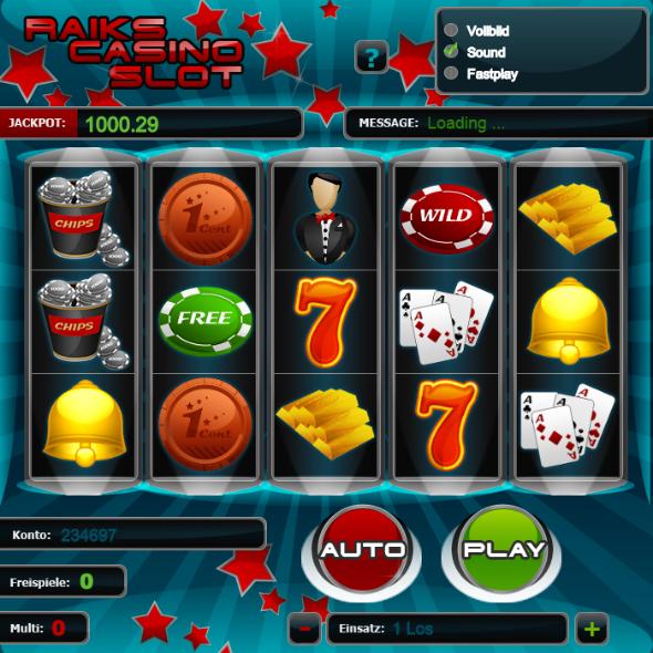 Raiks Casino Slot - HTML5 Slot - Copyright free